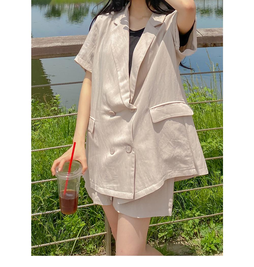 Big Size 55-88 Summer Basic Overfit Jacket