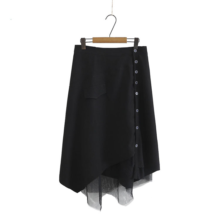 Big Size 26-38 Inch Topping Lace Layered Long Skirt