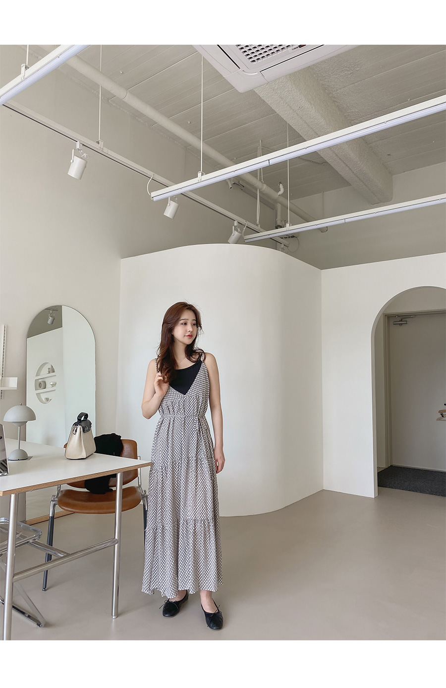 Big Size 55-88 Maracas Long Sleeveless Dress