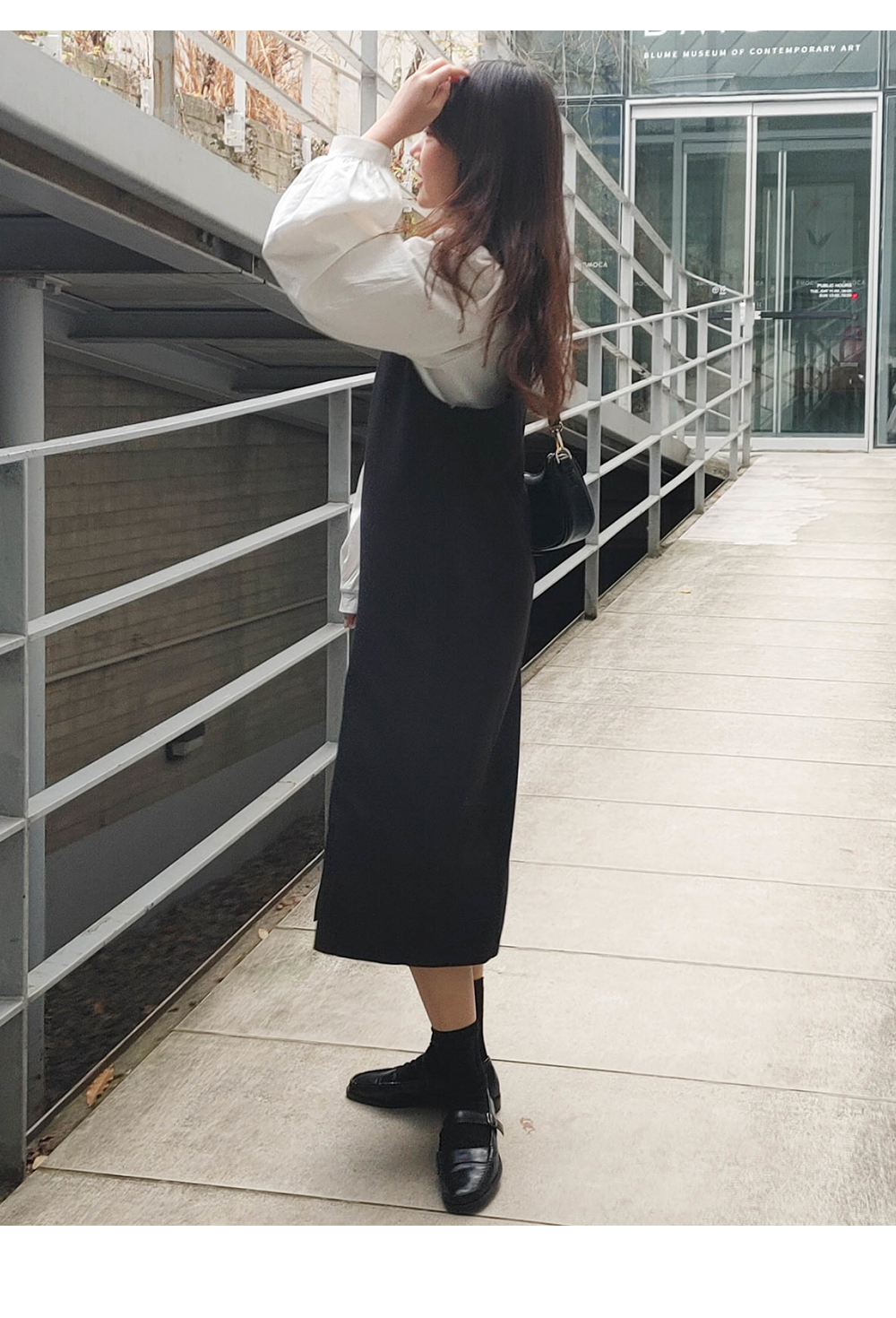 Big Size 55-120 Ring Pleated Long Dress