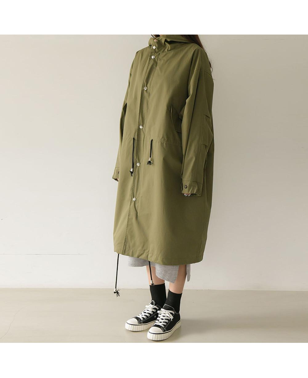Overfit Hooded String Safari Field Coat Big Size 66-120