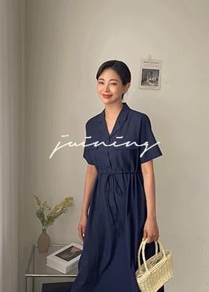 Juning String Collar Neck Long Dress