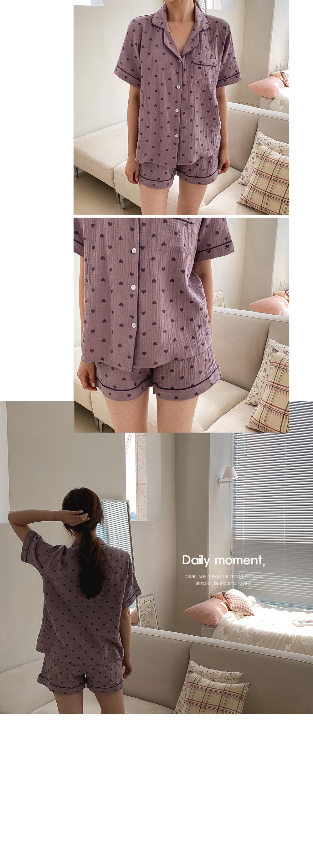 Yoru Heart Pajama - 3color