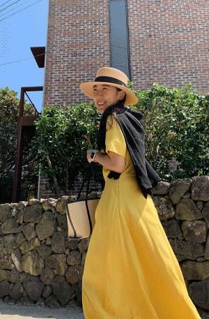 MMMM/ French Linen Long Dress