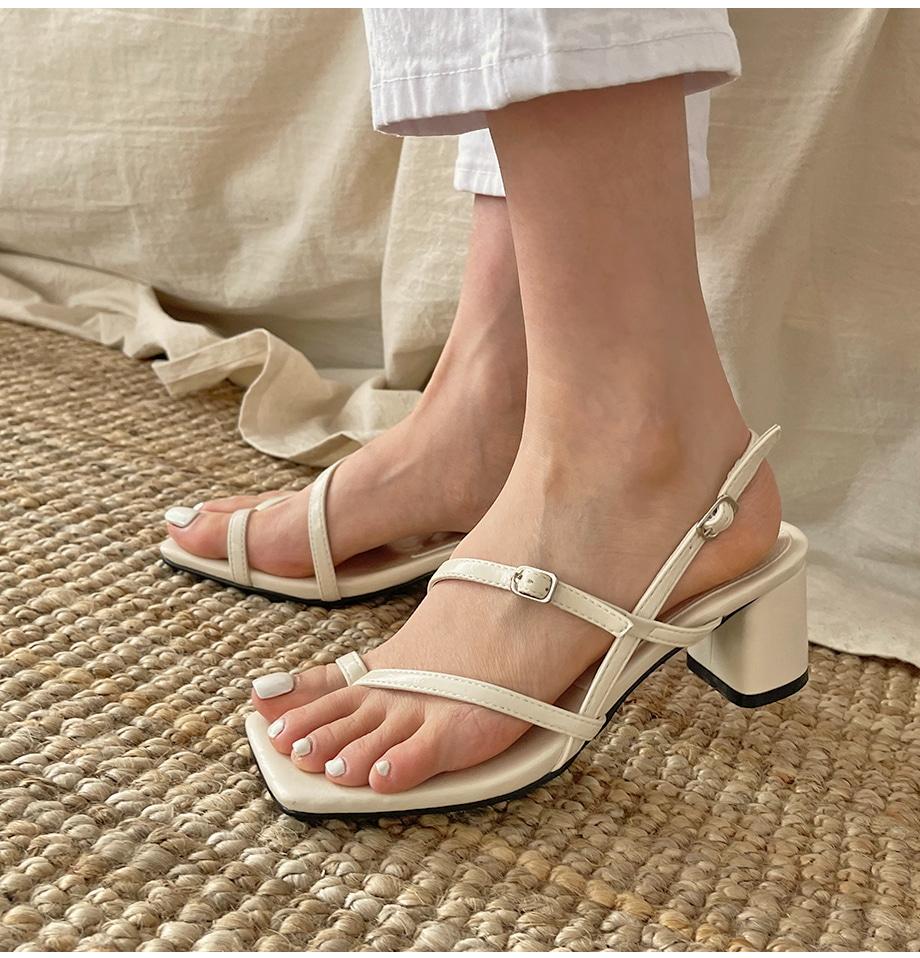 velvet diagonal strap sandal heels