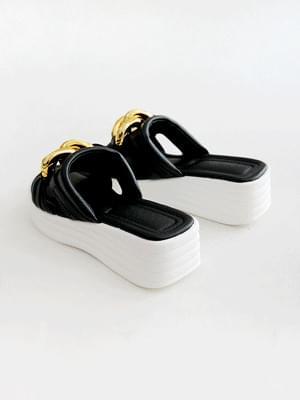 Refreshing whole-heel slippers 5cm
