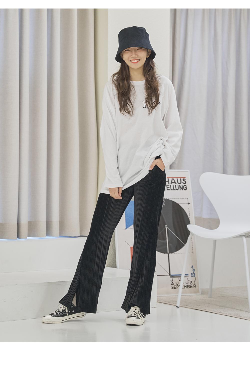 Big Size 26-38 Inch Miyu Open Velvet Pleated Pants