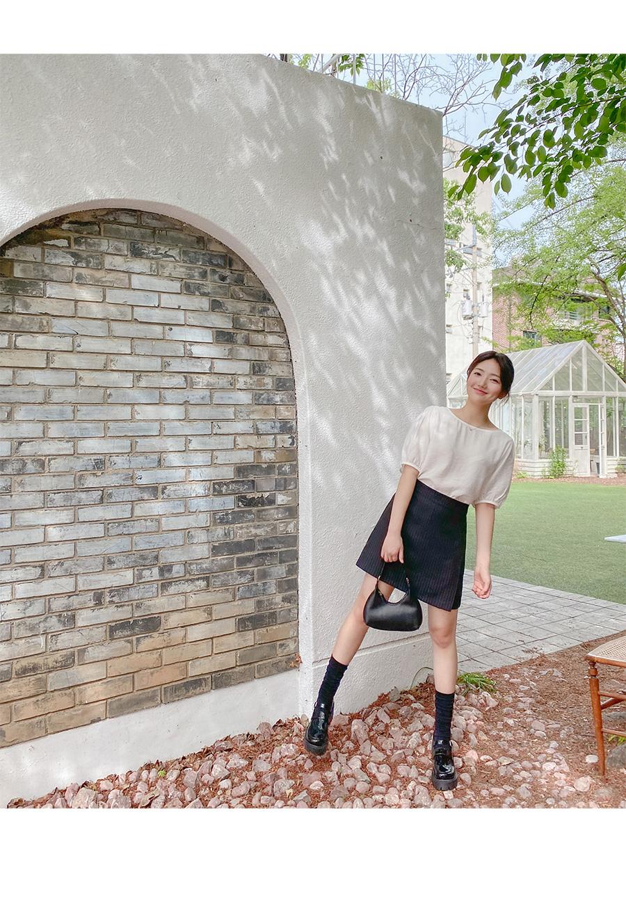 Big 26-38 Inch Verrer Stripe Wrap Skirt