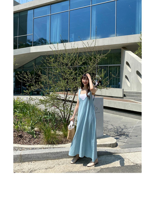 Pure You Neck Long Sleeveless Dress