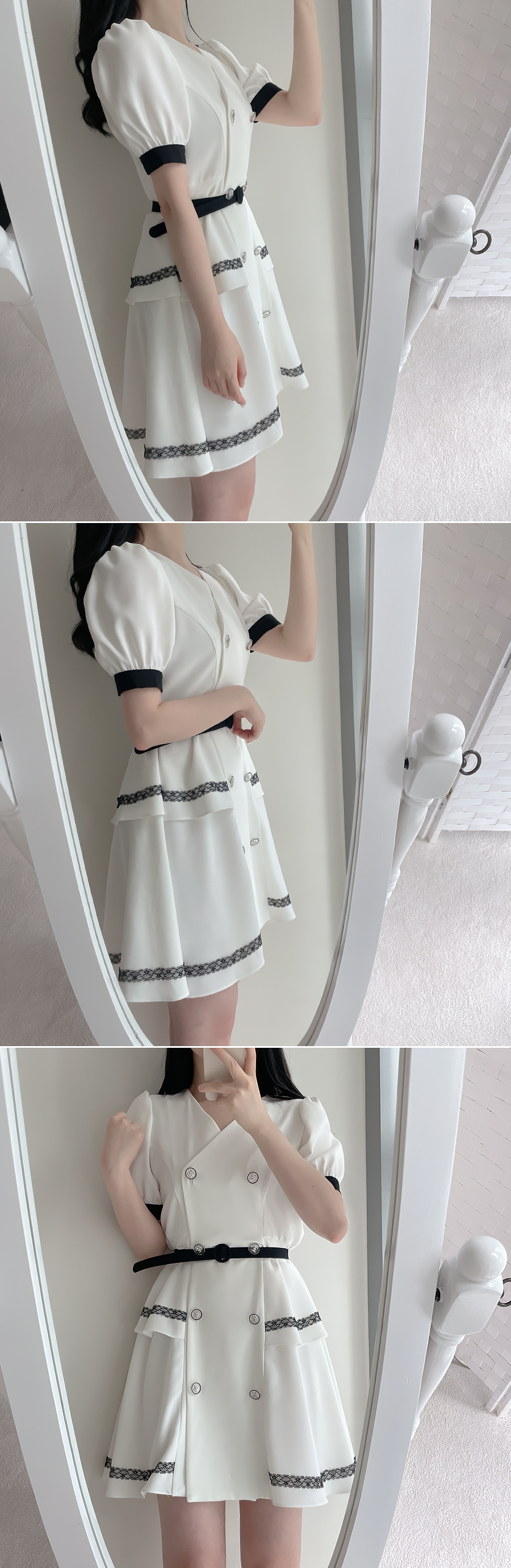 Shaan color matching double Dress 2color