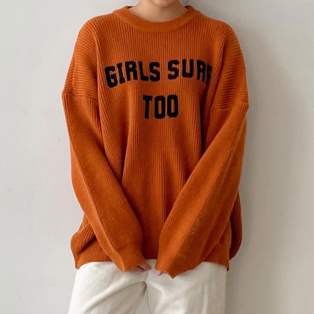 Big Size 55-120 Girls Round Boxy Boxy-fit Knitwear