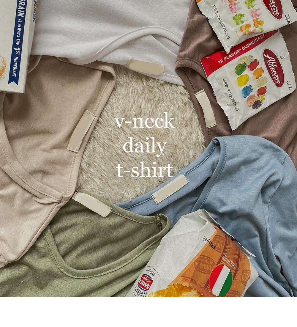 Slimming V-Neck Daily T-shirt