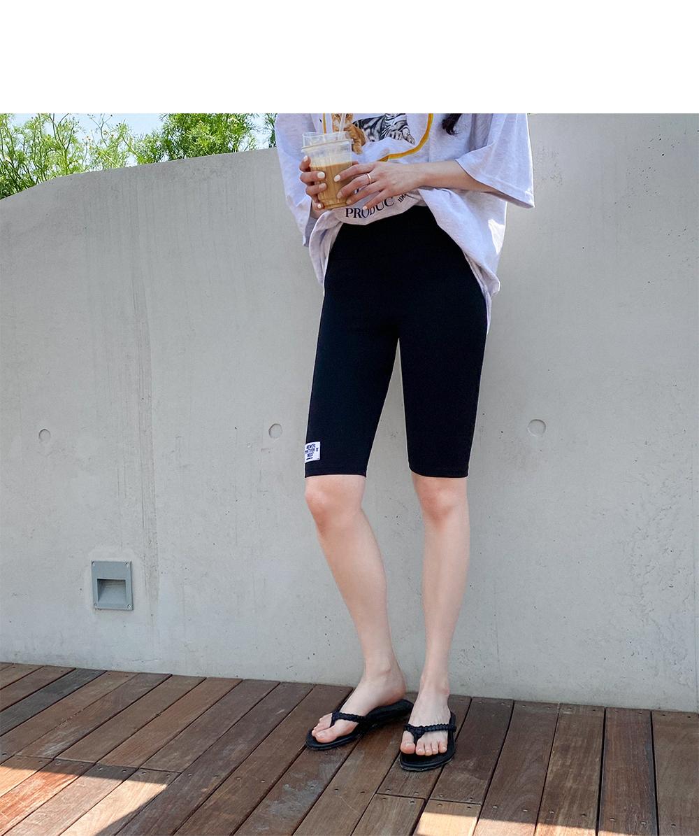 Big Size 26-40 Inch Patch 5 Part Biker Leggings