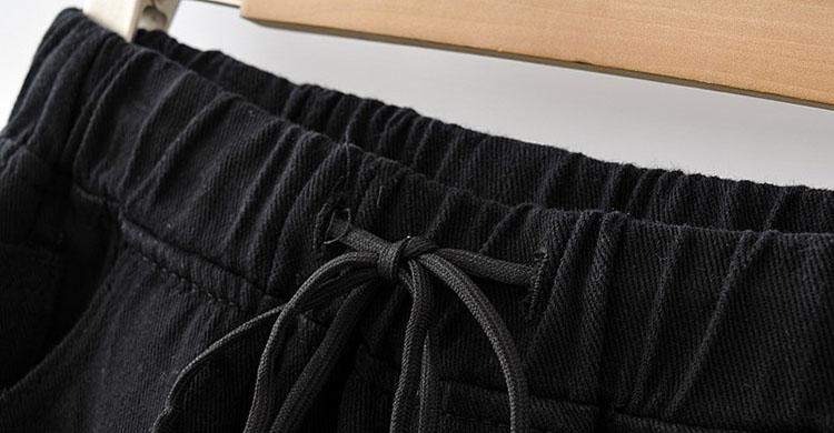 Big Size 26-40 Inch Banding Destroyed Shorts