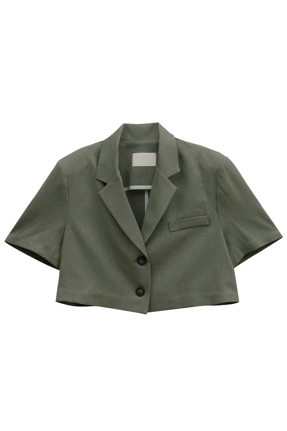 Dream crop linen jacket