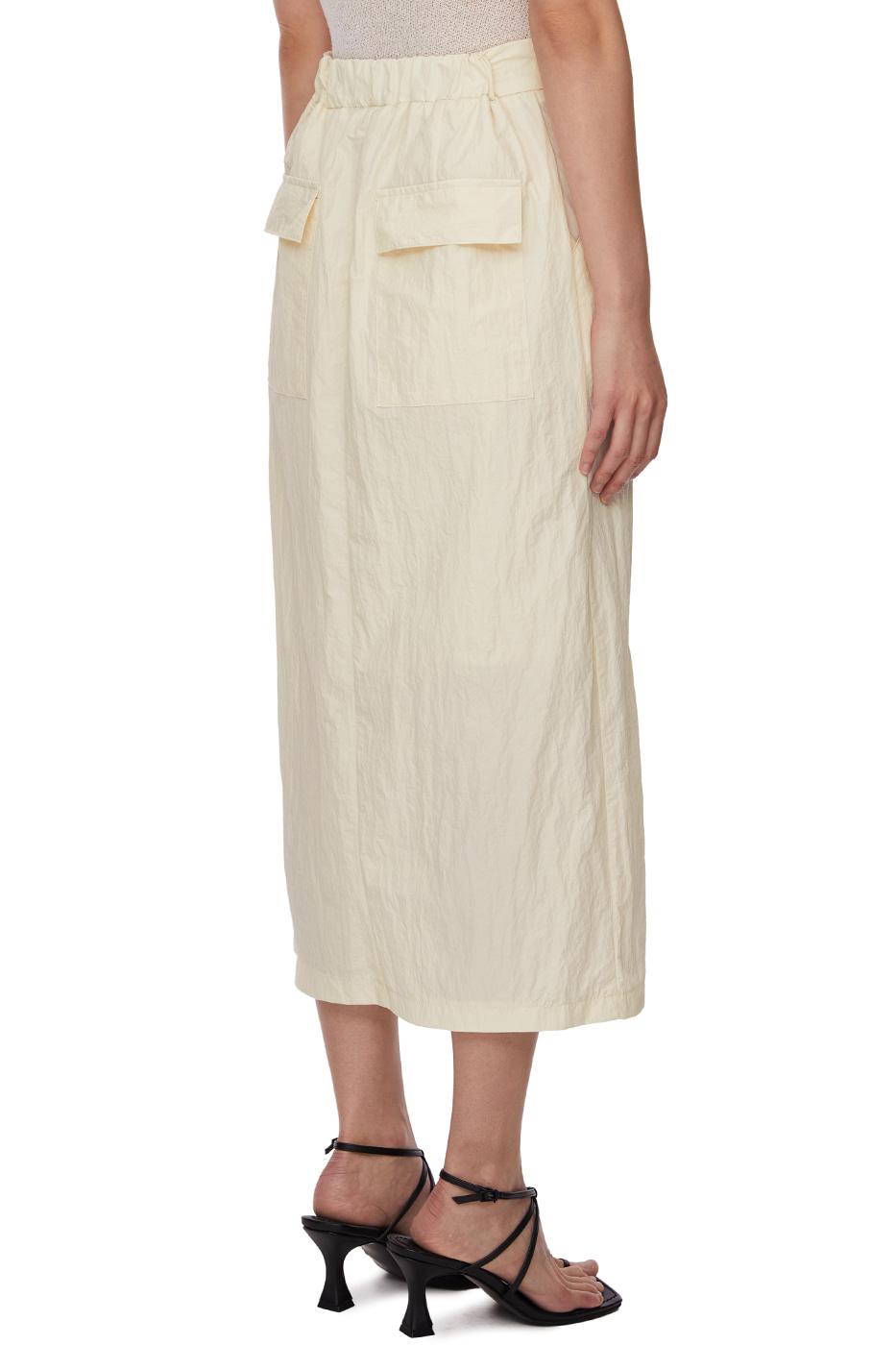 Ice Nylon Long Skirt