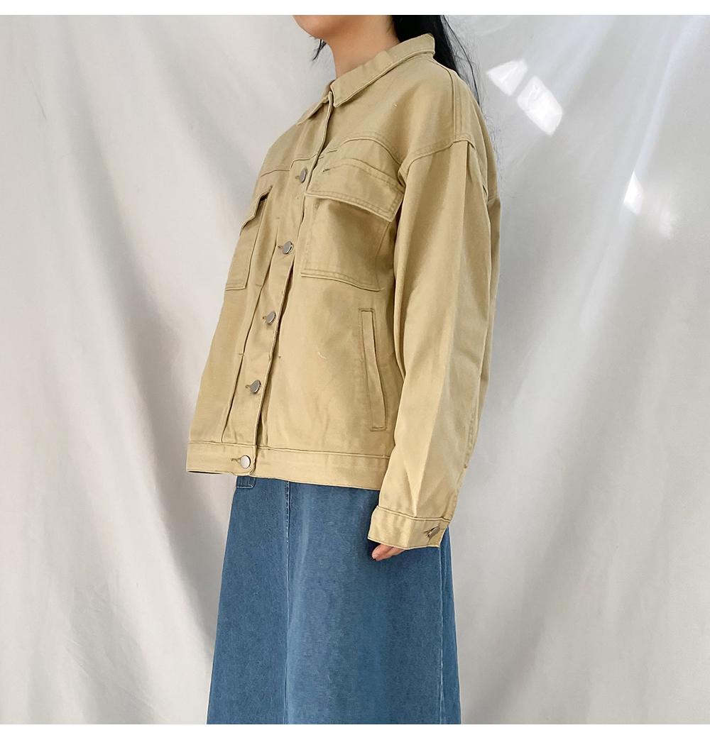 Big 55-99 Sporty Overfit Cotton Jacket