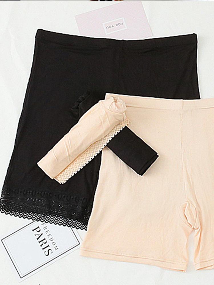 Hem Lace Soft 3 Part Underpants Big Size Waist 30-36 inches