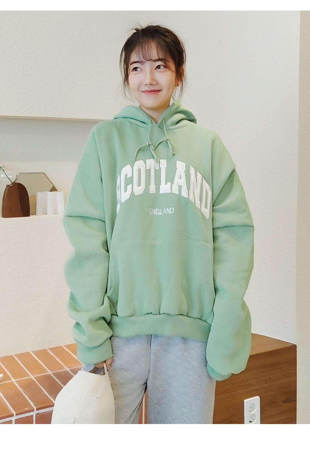 Big Size 55-120 Scottish Fleece-lined Boxy Boxy-fit Hood