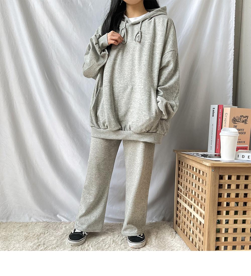 Big Size 55-120 Moonstar Overfit Hooded Sweatshirt