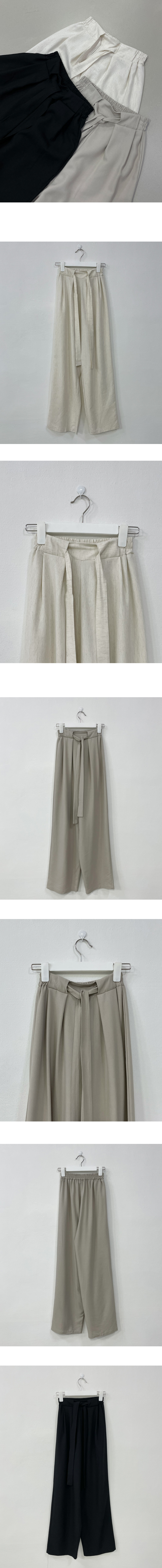 Strap Banding Wide Pants