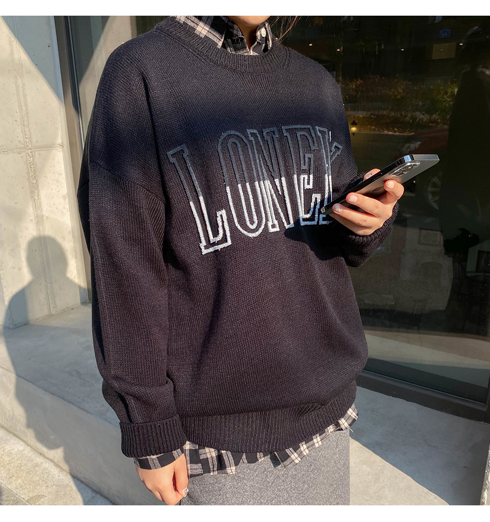 Lonely Loose-fit Round Knitwear