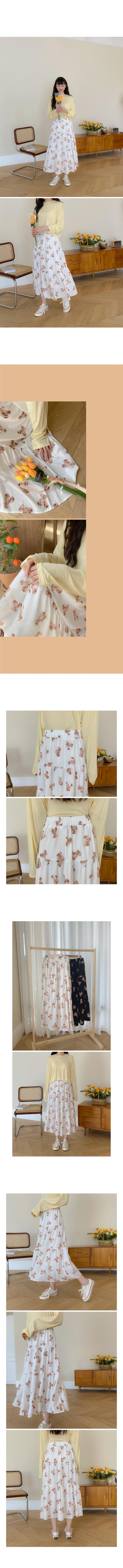 Big Size 26-38 Inch Bears Banding Long Cancan Skirt