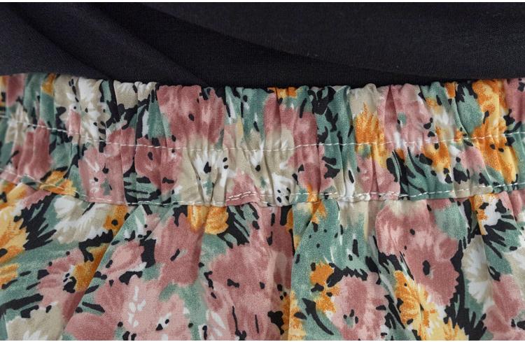 Vintage Flower Back Banding Mermaid Midi Long Skirt Big Size XL-4XL 28-40 Inch