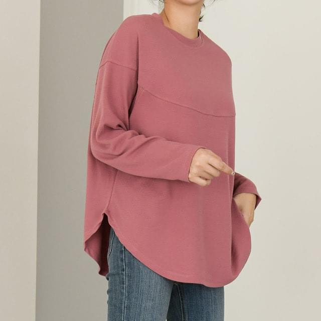 line solid cotton T-shirt