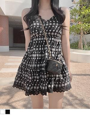 Picky Lace Knitwear Sleeveless Tee