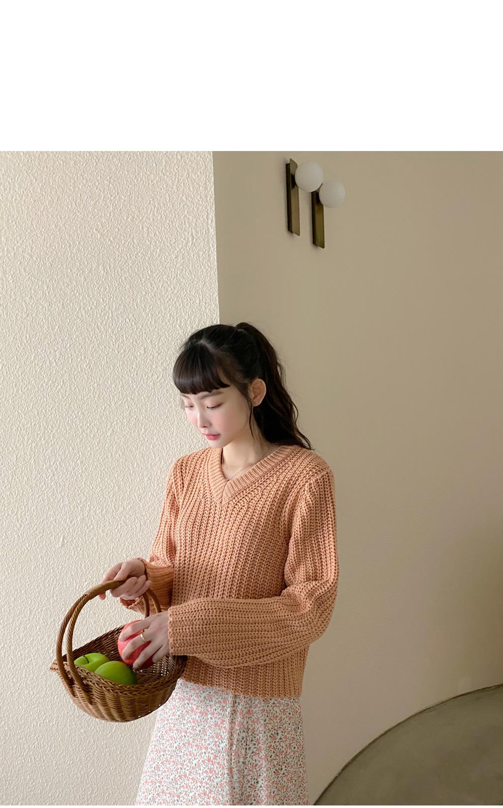 Big Size 55-77 Show Me V-Neck Hachi Knitwear