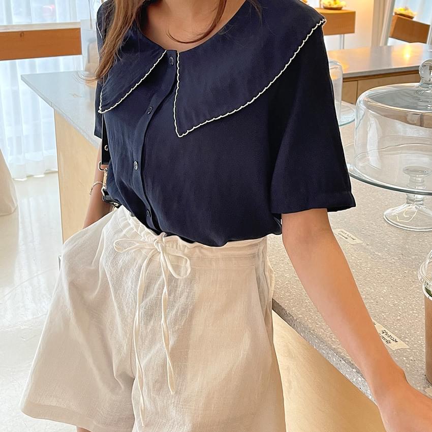 ruby sailor blouse