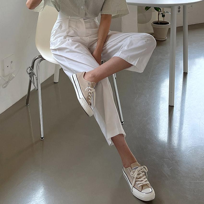 Erron high-wide cotton trousers 長褲