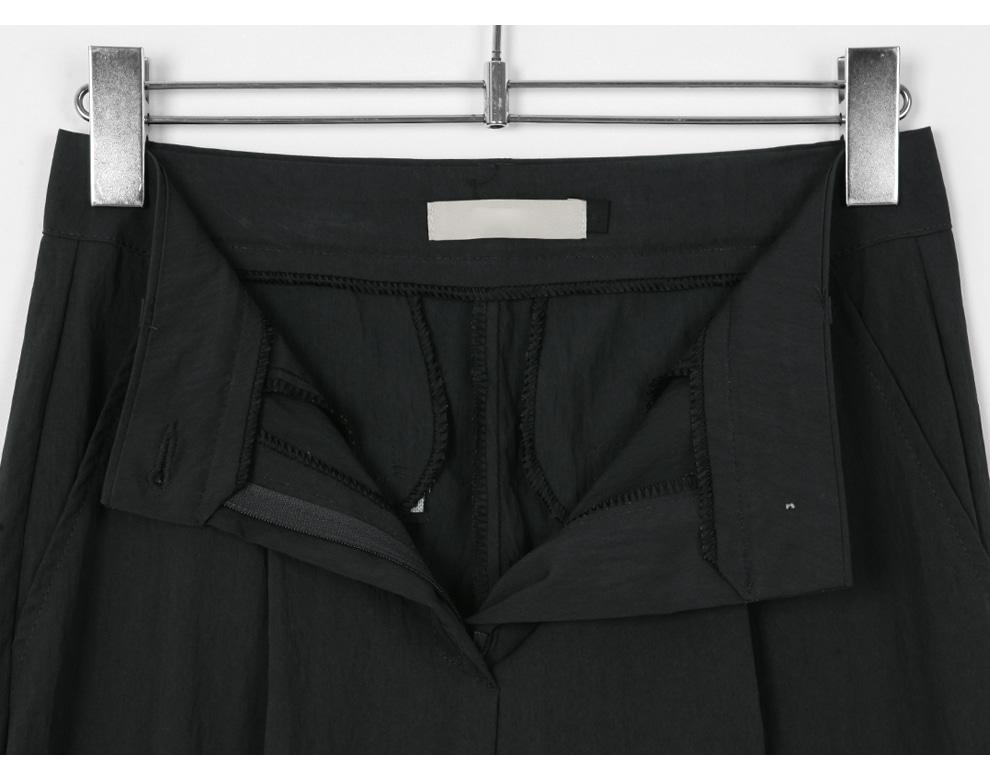 Dren Nylon Pintuck Wide Pants - 2 color