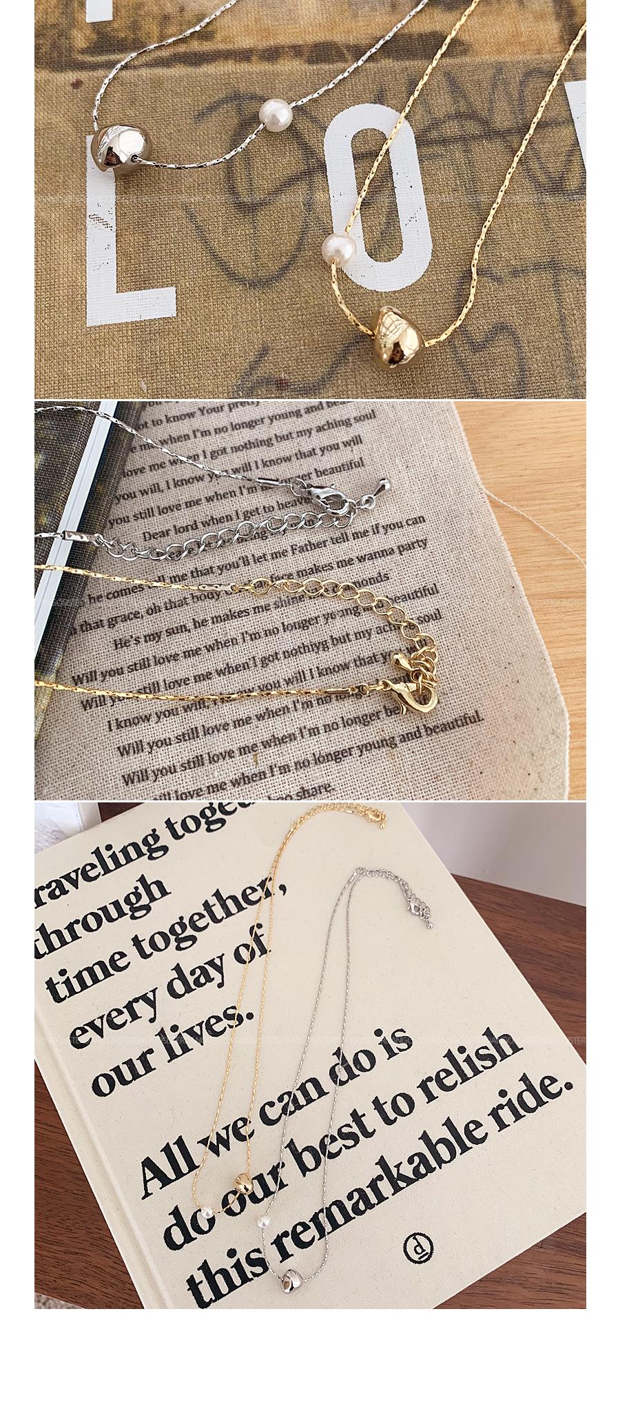 slim drop pearl necklace