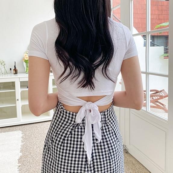 Back Ribbon Wrap T