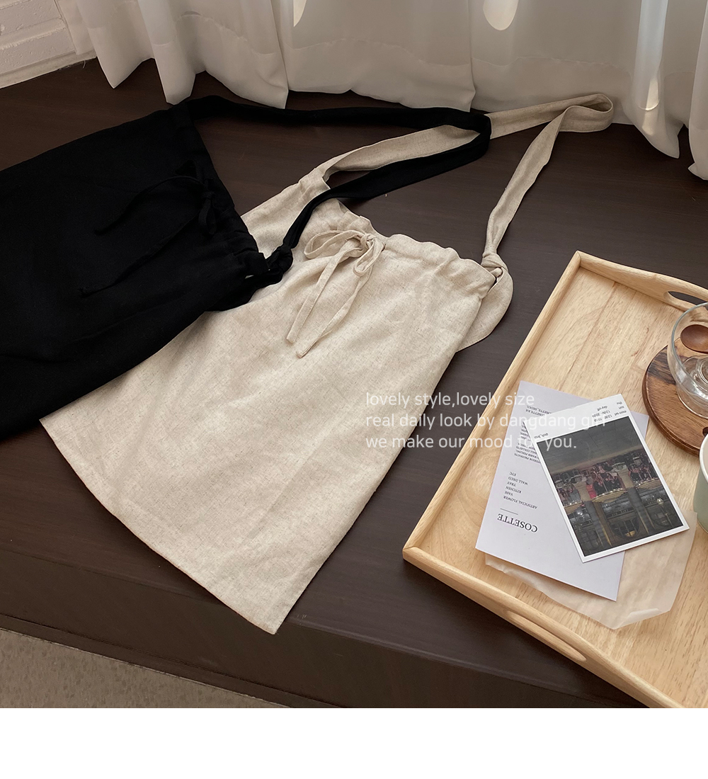 True Linen Strap Bag