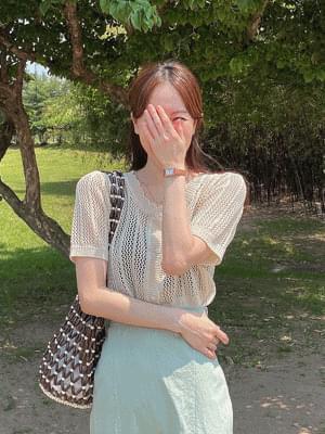Skirt Short Sleeve Knitwear