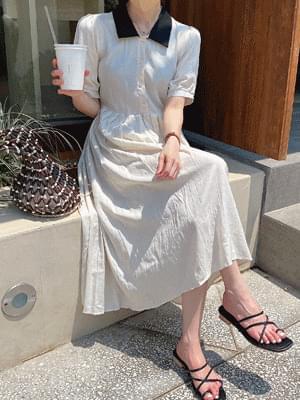 color linen Dress