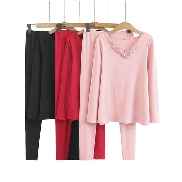 Big Size 66-120 Lace V-Neck Tight Underwear Set