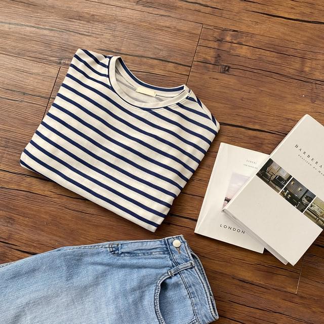 Big 55-99 Willie Striped Overfit Cotton T-shirt