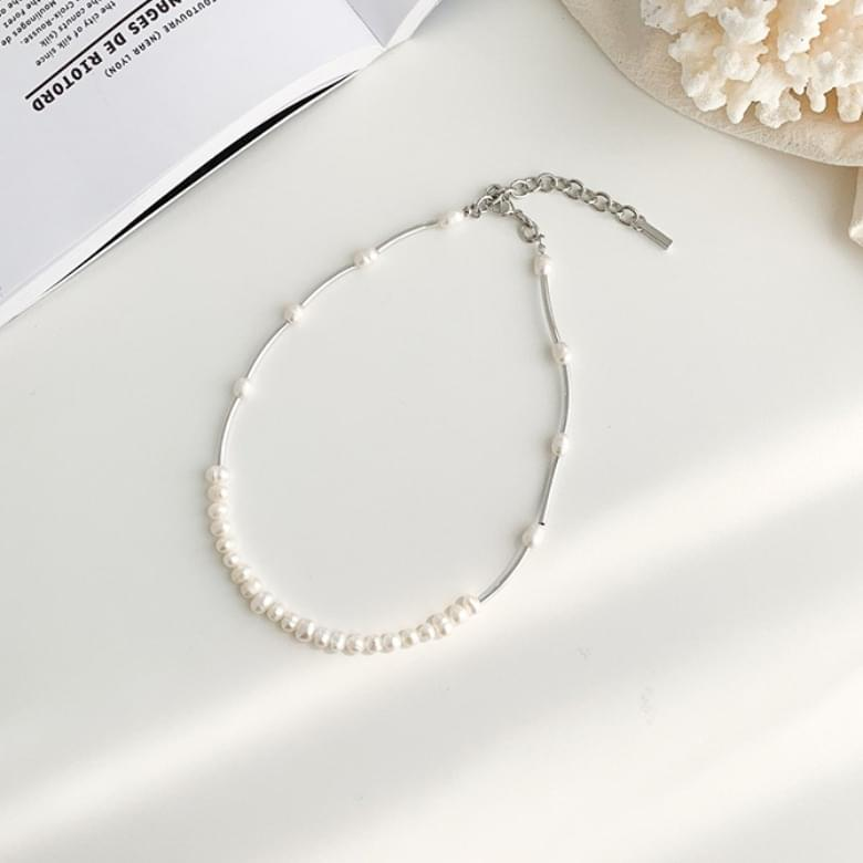 2colors romantic gouache freshwater pearl necklace