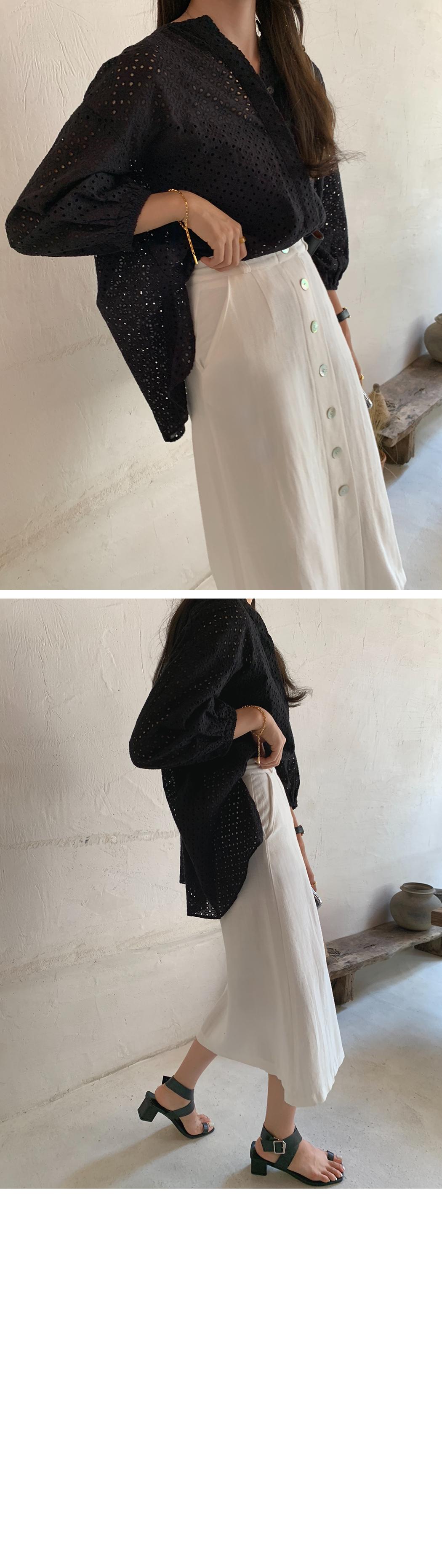 MMMM/ Charlinen shell button skirt