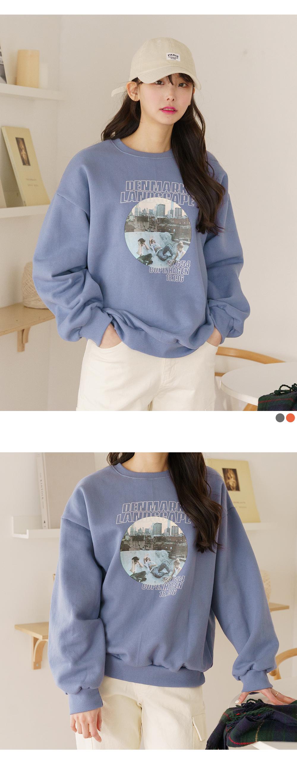 Big size 55-99 Sweatshirt Fleece-lined a cloud Loose-fit