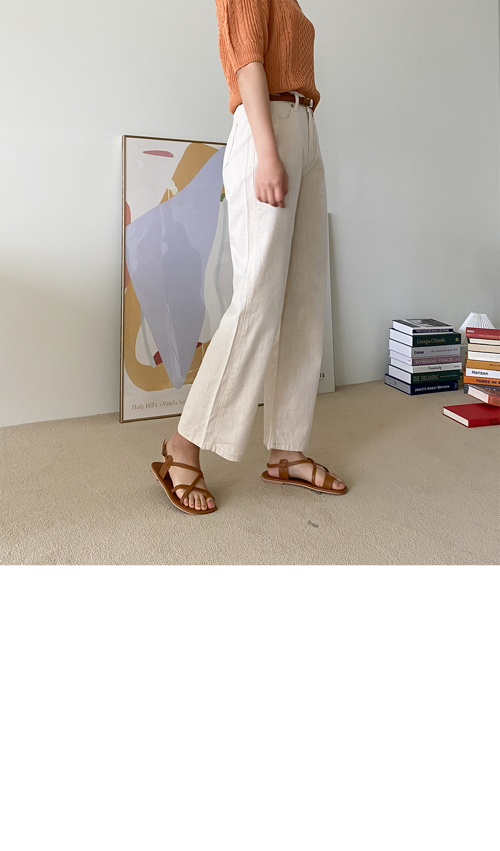 Big 26-38 Inch Whale Banding Cotton Wide Pants
