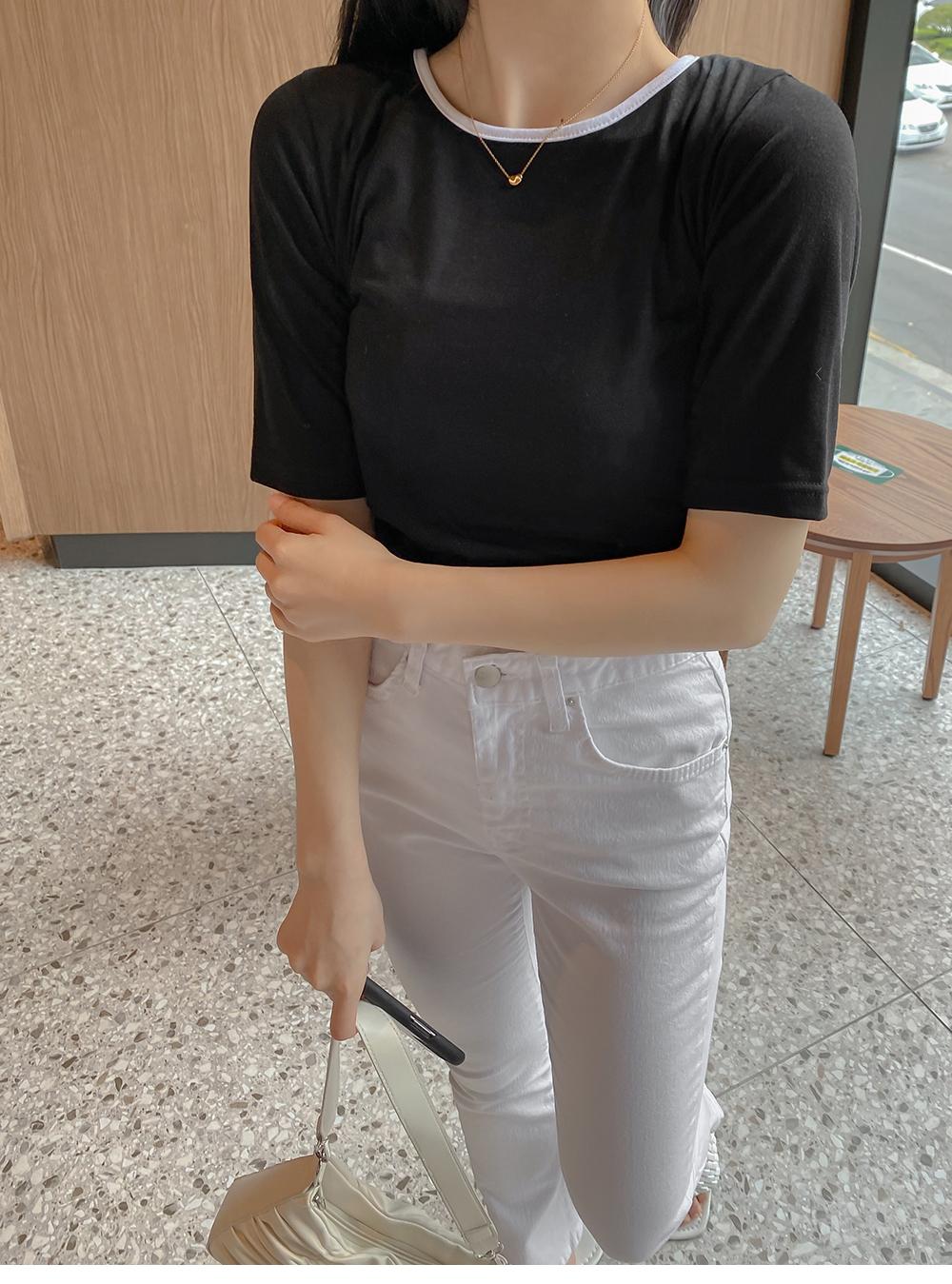 marrier ribbon short sleeve tee