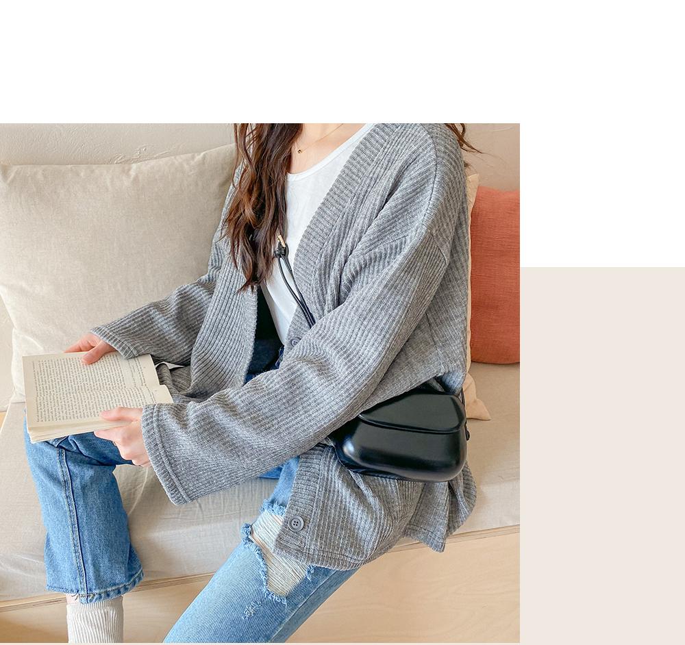 Big Size 55-99 Unit Loose-fit Fit Knitwear Cardigan