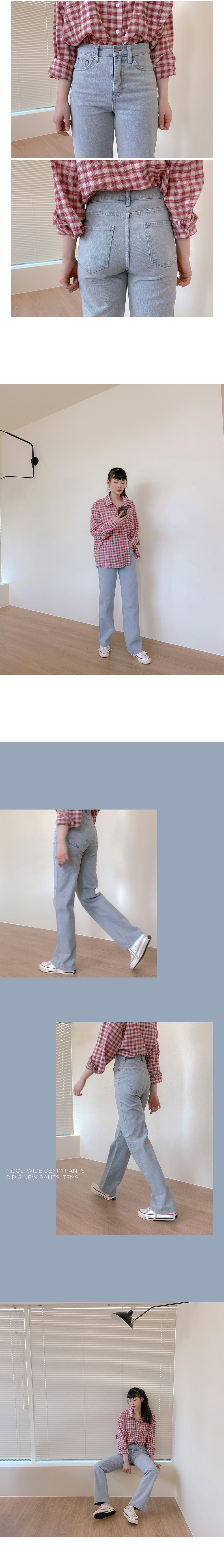 Big Size 26-38 Inch Mood Wide Denim Pants