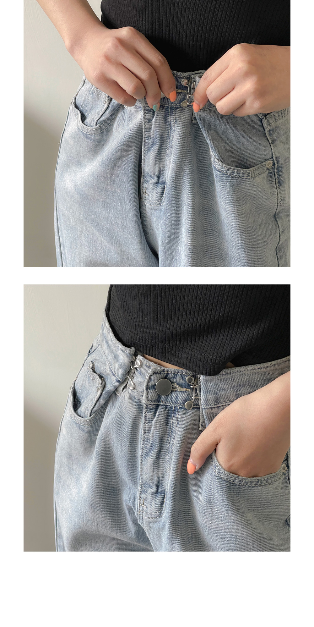 Trizen Hook Wide Denim Pants