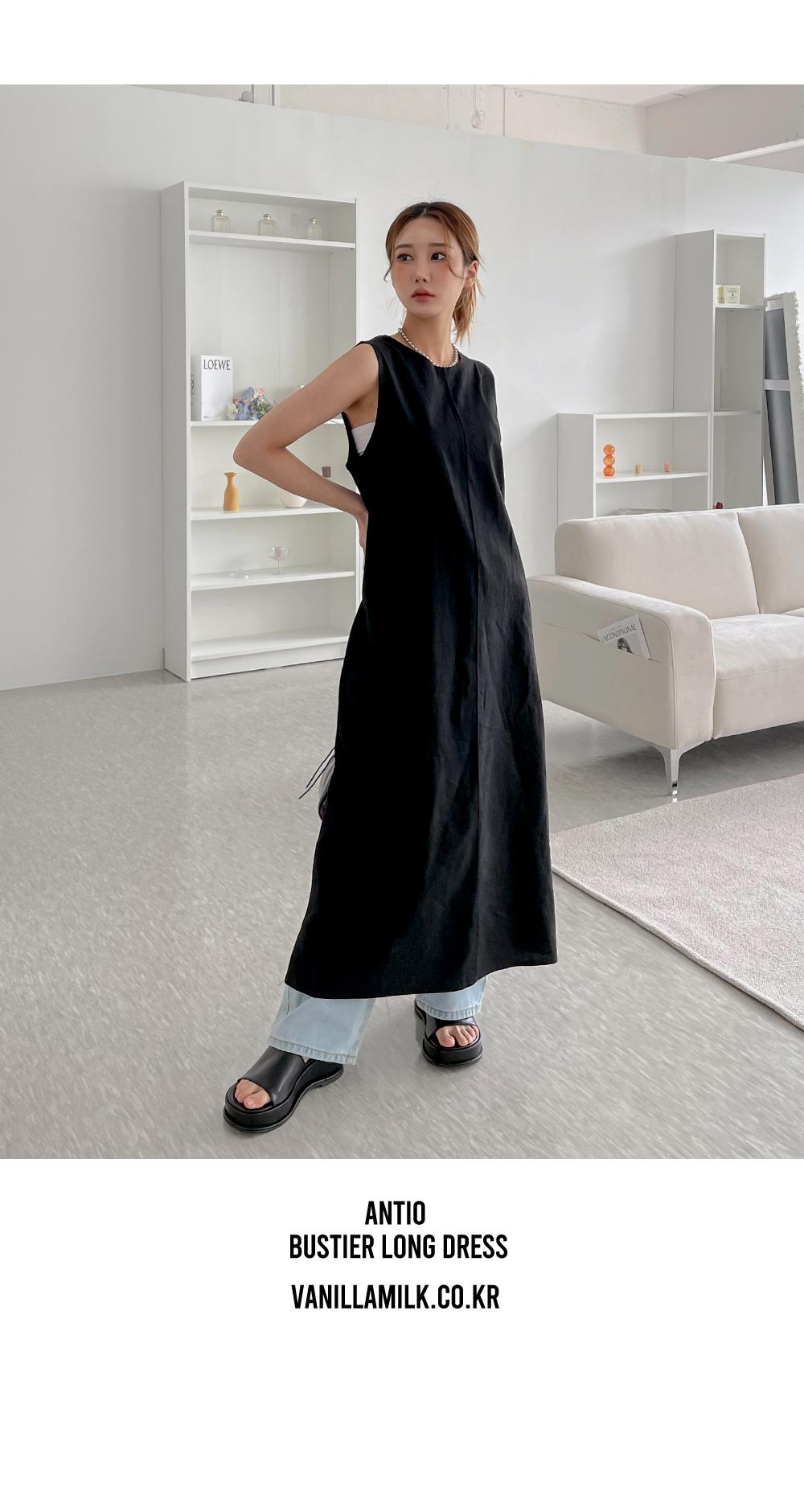 Antio Bustier Long Dress